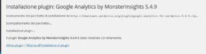 MonsterInsights installazione